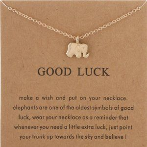 Gold Dipped Good Luck Elephant Wish Necklace